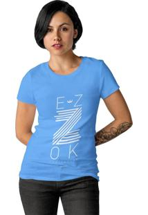 Camiseta Feminina Ezok Z Azul Claro - Kanui