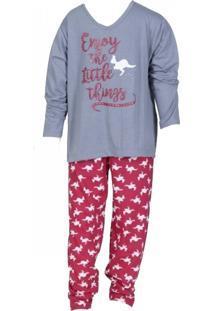 de240732e6e100 Pijama Click Chique Infantil Manga Longa