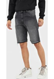 Bermuda Jeans John John Reta Estonada Preta - Kanui