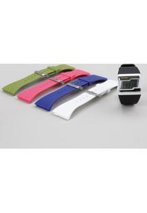 Relógio Digital Mormaii Troca Pulseiras Feminino - Fzca/8R Branco - Único