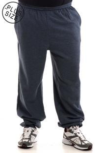 Calça Konciny Moletom Plus Size Sem Punho 451132 Azul Marinho