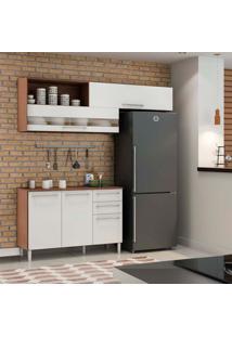 Cozinha Compacta Carménere 5 Pt 2 Gv Ii Branca E Sevilha