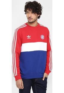 Moletom Bayern De Munique Adidas Crew Masculino - Masculino