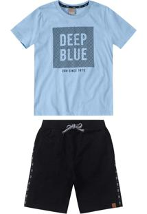Conjunto Azul Claro Deep Blue Menino