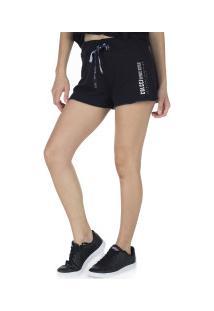 Shorts De Moletom Colcci - Feminino - Preto