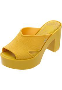 Tamanco Melissa Vivienne Westwood Anglomania Amarelo