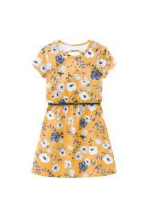Vestido Infantil Kyly Amarelo