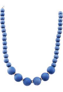 Colar Amora Mel Esferas Azul
