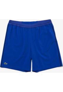 Bermuda Lacoste Sport Regular Fit Azul