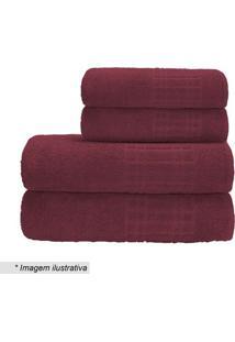 Toalha De Banho Loft- Vermelha- 70X130Cm- Camesacamesa