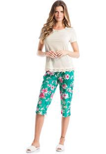 Pijama Luiza Pescador Verde/P
