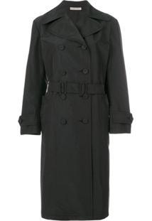 Bottega Veneta Trench Coat Midi - Preto