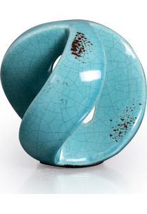 Esfera Vazada Grande Azul Turquesa Buzzios