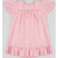 70489fde3 CEA. Vestido Infantil Estampado De Estrelas Manga Curta ...