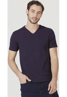 Camiseta Masculina Manga Curta Super Slim Em Algodão Com Elastano