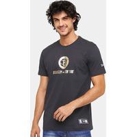 Camiseta Nba Brooklyn Nets New Era Gold City - Masculino 0813c38a52b