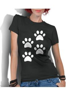 Camiseta Criativa Urbana 4 Patas Dog Preto - Kanui