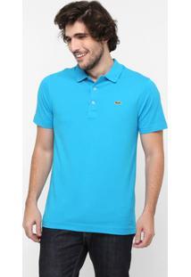 7c50a7893151f Camisa Polo Lacoste Super Light Masculina - Masculino-Azul Piscina+Verde
