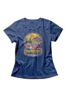 Camiseta Feminina Dungeon Master Dice Azul