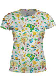 Camiseta Estampada Baby Look Over Fame Branca - Branco - Feminino - Poliã©Ster - Dafiti