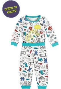 Pijama Macacão Bebê Com Blusa E Calça [] []