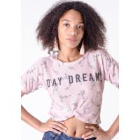 1c99c85cc1 Blusa Cropped Rosa Quartz Day Dream