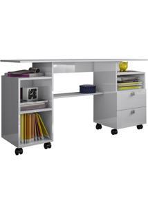 Mesa Para Computador C215 Branco Brilho