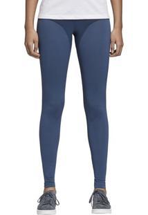 Calça Tight Trefoil - Azul Escuro & Brancaadidas