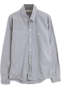 Camisa Aeropostale Menino Liso Cinza