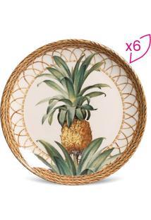 Jogo De Pratos Para Sobremesa Coup Pineapple- Bege & Marporto Brasil