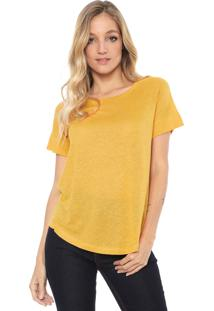 Camiseta Maria Filó Básica Amarela - Kanui