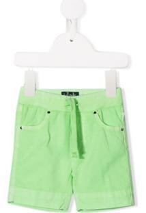 Il Gufo Drawstring Waist Shorts - Verde