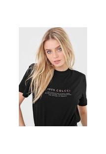 Camiseta Colcci Lettering Preta