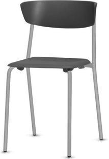 Cadeira Bit Assento Preto Base Cinza - 53663 Sun House