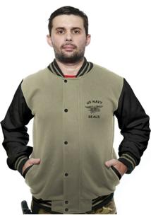 Casaco College Old School Militar Us Navy Seals - Masculino
