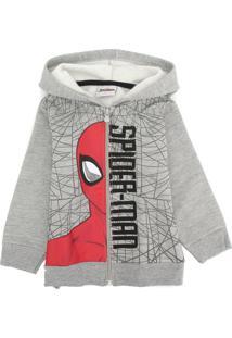 Jaqueta Spider Man Infantil Homem-Aranha Cinza