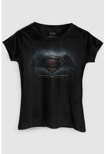 Camiseta Dc Comics Batman Vs Superman Dawn Of Justice Bandup! - Feminino-Preto