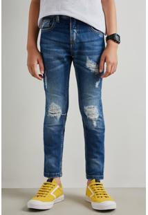 Calca Jeans Mini Pf +5562 Confi Reserva Mini Azul