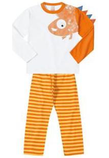 Pijama Infantil Marisol Masculino - Masculino-Laranja