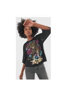 Camiseta Triton Onça Tule Preta