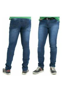 Calça Jeans Masculina Jeans Escuro Skinny Com Lycra Memorize Jeans