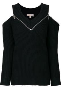 Michael Michael Kors Pullover Com Ombros Vazados - Preto