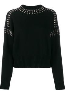 Diesel Suéter Com Tachas - Preto