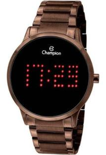 Relógio Digital Champion Ch40035R Feminino - Feminino-Marrom