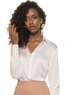 0a5326d822 Camisa De Seda Principessa Adele Off White