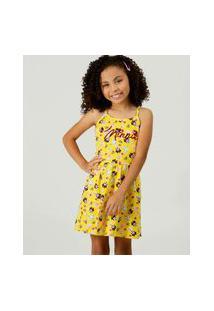 Vestido Infantil Alças Finas Minnie Disney Tam 4 A 10
