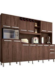 Cozinha Compacta Ágata 13 Pt 2 Gv Castanho