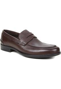 Sapato Social Couro Shoestock Gravata Masculino - Masculino-Café