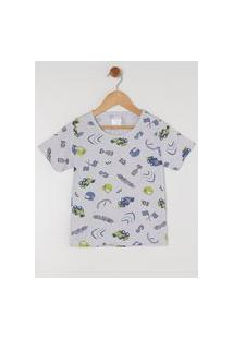 Pijama Curto Infantil Para Menino - Cinza