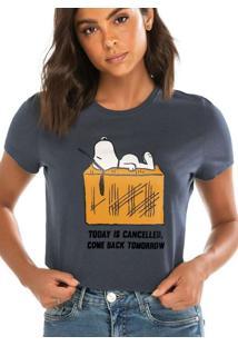 Camiseta Feminina Snoopy Enfim 1000083266 00922-Ch